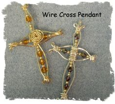 wire cross pendant.  Beautiful!  The most original I've seen.