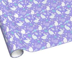 Purple Easter Bunny Wrapping Paper