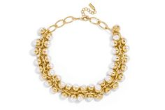 Pearl Bubble Collar Necklace at Bauble Bar