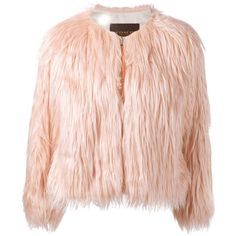 Coach cropped faux fur jacket (3.545 BRL) ❤ liked on Polyvore featuring outerwear, jackets, coats, coach, pink, pink faux fur jackets, faux fur jacket, coach jacket, faux fur cropped jacket and fake fur jacket