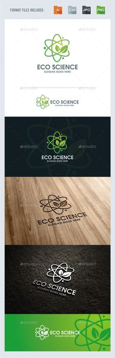Eco Science Logo Template Vector EPS, AI. Download here: http://graphicriver.net/item/eco-science-logo-template/14209866?ref=ksioks