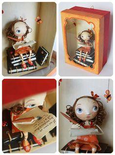 Figuras de papel maché de Chloé Rémiat / Chloé Rémiat's papier maché figures