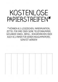 Kostenlose Papierstreifen