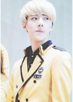 Oh Sehun in his Seoul School of Performing Arts uniform~