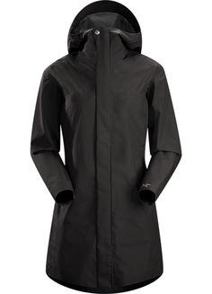 Codetta Coat Women's Waterproof, three-quarter length GORE-TEX® rain jacket with hood