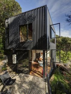 Container House Exterior Shipping Containers – Shipping Container US Architecture Design, Container Architecture, Contemporary Architecture, Contemporary Houses, Pavilion Architecture, Sustainable Architecture, Residential Architecture, Blackpool, Shed To Tiny House
