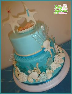 Sea christening and wedding cake - Cake by Bety'Sugarland