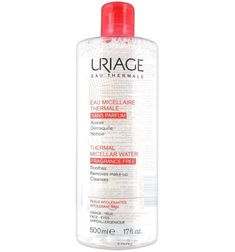 Apa micelară termală Uriage – review Micellar Water, Vodka Bottle, Cleanse, Fragrance, How To Remove, Make Up, Personal Care, Cleanser, Furs