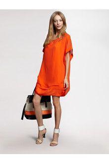 umeki dress | Diane Von Furstenberg Umeki Dress in Orange (neon orange) | Lyst