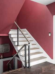 HGTV Dream Home 2021: Tour Pictures | HGTV Dream Home 2021 | HGTV Red Paint Colors, Teal Walls, Bathroom Pictures, Rustic White, House Layouts, House Painting, Stairways, Hgtv, House Plans