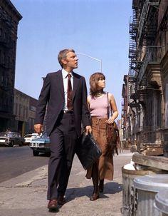 Donald Sutherland and Jane Fonda in Klute, 1971
