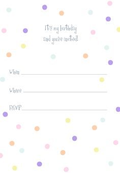 Free Printable Dotted Birthday Invitation Invitation