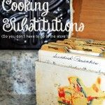 Frugal and Easy Cooking Substitution Solutions