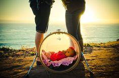A Baby in a Bass Drum, Parents and the Ocean in the Background--how cute Courtney Campbell, Newborn Photography, Family Photography, Bass Drum, Maternity Pictures, Baby Names, Baby Photos, Drums, Photo Ideas