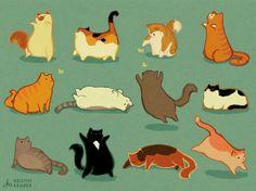 I love cat doodles