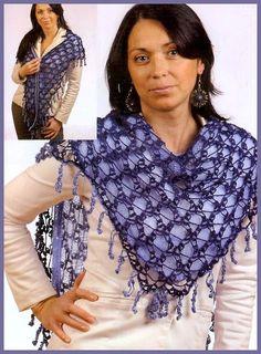 Patron Crochet Pañuelo Forrado - Patrones Crochet