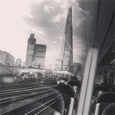 The Shard from a train leaving London Bridge