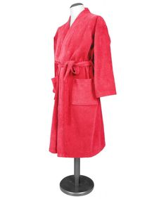 Peignoir De Bain Femme Eponge Col Châle Naïa Cranberry Fashion, Dress, Linens, Man Women, Fashion Ideas, Moda, Fashion Styles, Fashion Illustrations