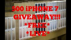 500 IPHONE 7 GIVEAWAY LIVE 🔴 FREE🔥 BIGGEST GIVEAWAY EVER!!