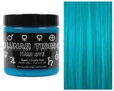 #turquoise #hair #dye #color #lunar #tides #cyan #sky #vegan #buy