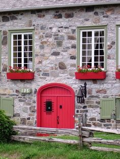 The red door - Ile d Orleans, Quebec