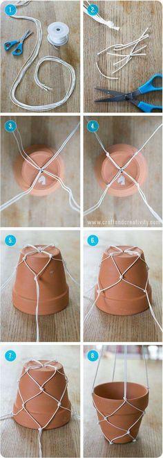 Macrame pot vas hanging