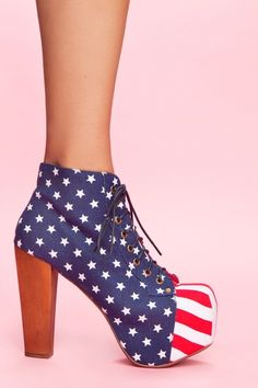 ♪let's do it for our country! the red, white, and the blue!♫  Lita Platform Boot - American Flag
