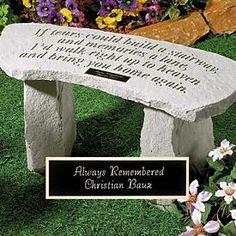 If Tears...Garden Bench
