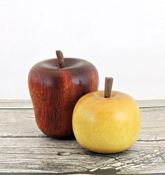 How to Make Wooden Apples   Crafting in the Rain #lathe #woodturning #video