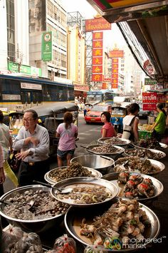 Seafood Street Stall in Chinatown - Bangkok, Thailand