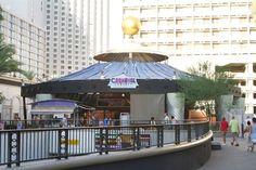 Carnival Court Bar outside Harrah's in Las Vegas.