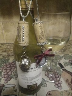 Authentic  Hand Made Jewelry Wine Cork Necklaces and by TwinVines, $12.00