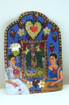 Frida Kahlo tin nicho.  I need this.