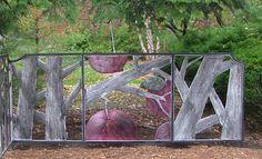 Ornamental Screen: Aluminum relief with metal dye.