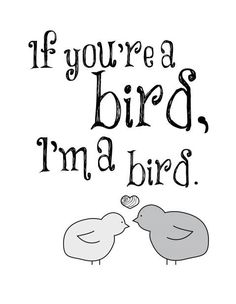 Quote from The Notebook. I'm a bird. Say I'm a bird!