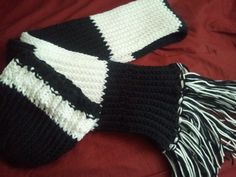 Rib stitch hat and scarf.