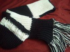 Rib stitch hat and scarf.