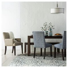 For a traditional look that never goes out of style, add this Parsons Wood Dining Table from Threshold™ to your home. The rich finish of the wood makes this piece easy to add to the existing decor in your kitchen or dining room. Whether you use it for special occasions or every day, you'll love making memories around this table.