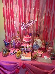 Barbie sparkle birthday party! See more party ideas at CatchMyParty.com!
