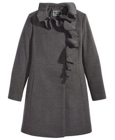 S. Rothschild Ruffle-Trim Coat, Big Girls (7-16)