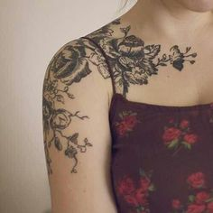floral quarter sleeve tattoos - Google Search