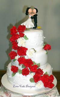 Casamento com rosas vermelhas