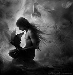 Dark vs. Light  Wolf Power, Spirit World, Ancestors  #visualmantra #journeyinside