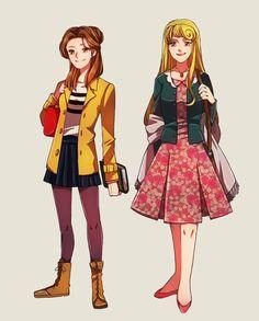 Modern Aurora and Belle