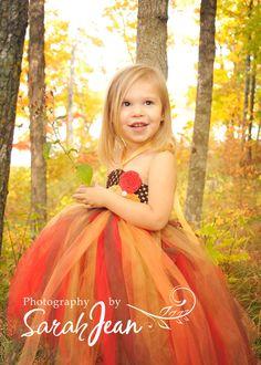 Fall Tutu, Tutu- Tutu Dress- Costume- Baby Tutu- Infant Tutu- Photo Prop- Long Tutu- Available In Size 0-24 Months. $33,95, via Etsy.