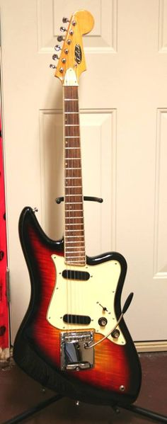 Toledo electric guitar from mid-late 1960's. These student guitars were manufactured in Japan, and commissioned by the Canadian Conservatory of Music.