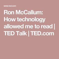 talks mccallum technology allowed read