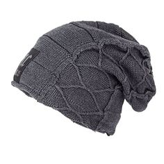 $5.49 Letter Patch Flocking Knitted Slouchy Beanie
