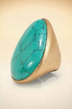 Turquoise Cocktail Ring #BostonProper #Jewelry #Accessories