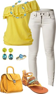 """""""Blue & Yellow Topaz"""" by damussel on Polyvore"""